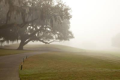 Misty Golf Course I Art Print by Barbara Northrup
