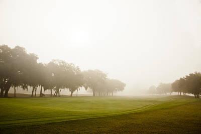 Misty Golf Course II Art Print by Barbara Northrup