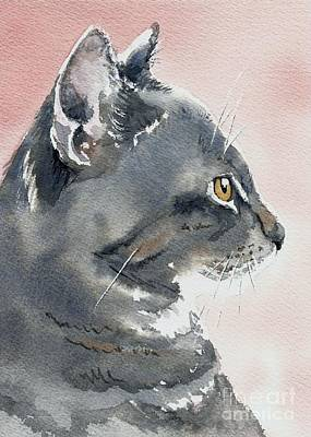 Painting - Misty In Profile by Lynn Babineau