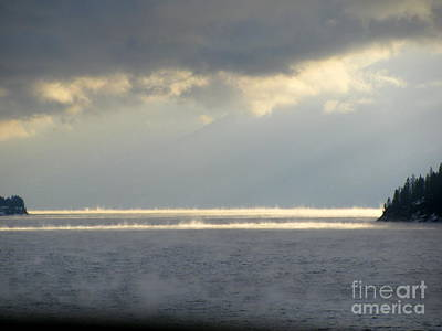 Photograph - Misty Kootenay Lake by Leone Lund