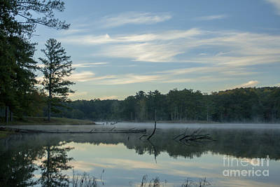 Photograph - Misty Lake And Forest Reflections by Ben Sellars