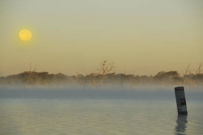 Photograph - Misty Lake by Charles Beeler