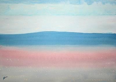 Misty Lake Original Painting Art Print