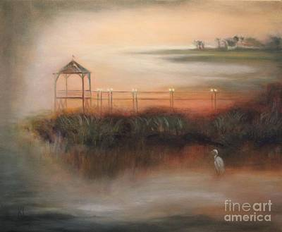 Painting - Misty Marsh by Kathy Lynn Goldbach