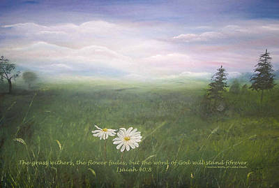 Misty Meadow Isaiah  Art Print