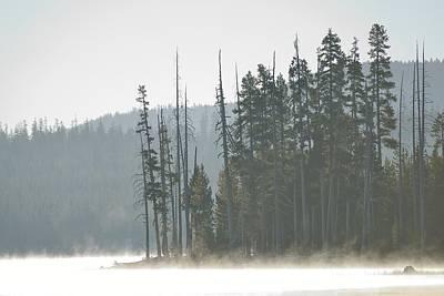 Photograph - Misty Medicine Lake Morning by Rich Rauenzahn