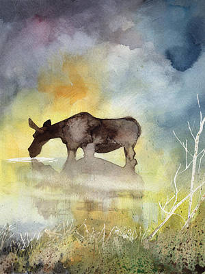 Painting - Misty Moose Minerva by Sean Parnell