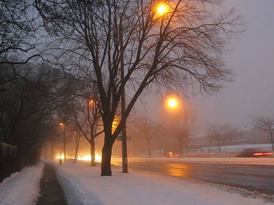 Lif Photograph - Misty Morning After Snow Fall by Alfred Ng