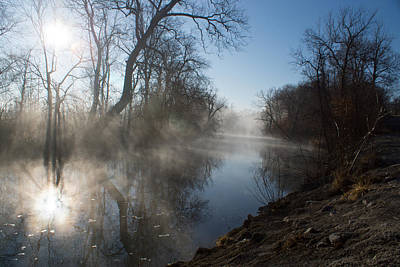 Misty Morning Along James River Art Print