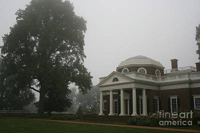 Misty Morning At Monticello Art Print