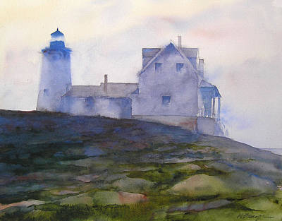Painting - Misty Morning At Pemaquid Lighthouse by William Beaupre