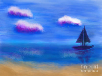 Digital Art - Misty Morning Beach by Nicole Burnett