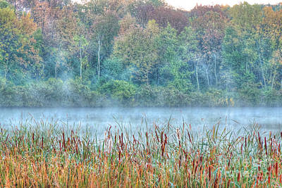 Marsh Photograph - Misty Morning by Deborah Smolinske