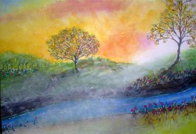 Art Print featuring the painting Misty Morning by Douglas Beatenhead