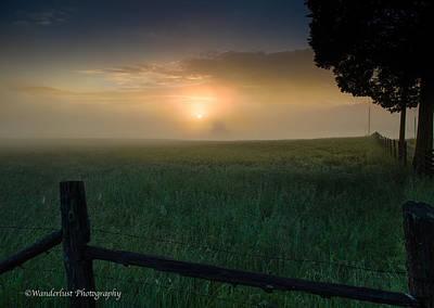 Photograph - Misty Morning Hop by Paul Herrmann
