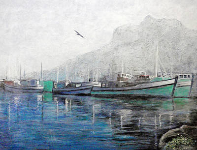 Misty Morning In Hout Bay Art Print