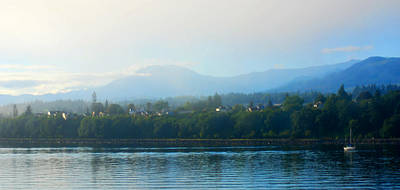 Photograph - Misty Morning In Port Angeles by Connie Fox