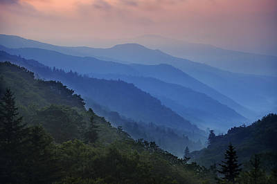 Haze Photograph - Misty Morning In The Mountains by Andrew Soundarajan