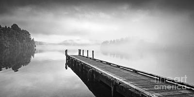 Photograph - Misty Morning Lake Mapourika New Zealand by Colin and Linda McKie