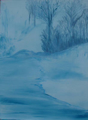 Wall Art - Painting - Misty Morning by Linda Wimberly
