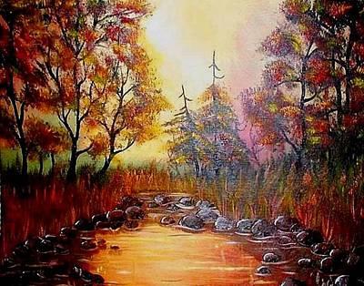 Misty Morning Marsh Art Print