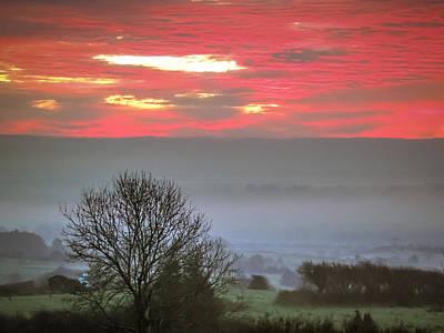 Photograph - Misty Morning Sunrise Over Western Ireland by James Truett