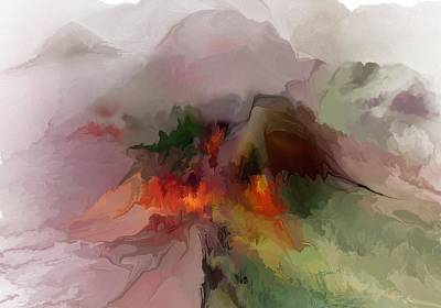 Digital Art - Misty Mountain Abstract by David Lane