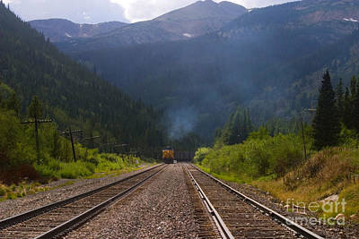 Steven Krull Photos - Misty Mountain Train by Steven Krull