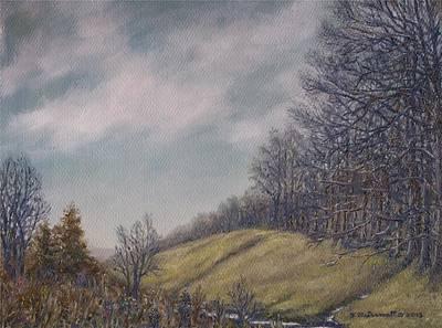 Misty Mountain Valley Print by Kathleen McDermott