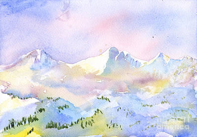 Misty Mountain Art Print