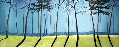 Sofa Size Painting - Misty Pines by Michael Dillon