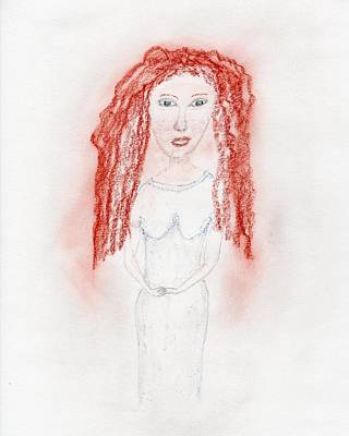 Drawing - Misty Red by Jim Taylor