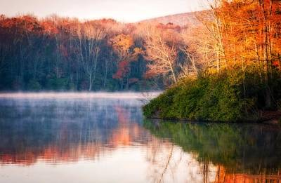 Photograph - Misty Reflections Of Fall by Lynn Bauer