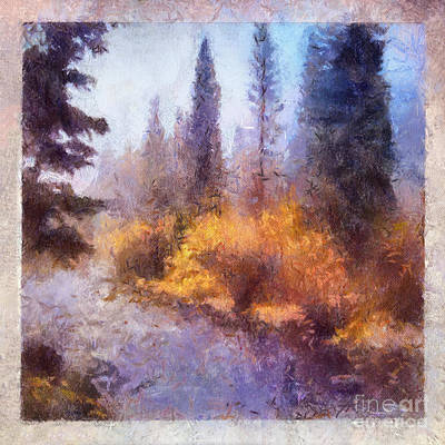 Painting - Misty River Afternoon by Teri Brown