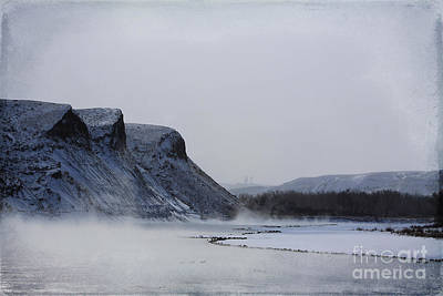 Photograph - Misty River by Alyce Taylor
