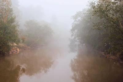 Mountain Landscape - Misty River by Katherine White