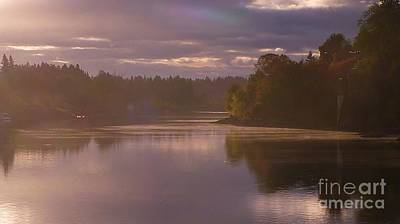 Photograph - Misty River Reflection by Susan Garren