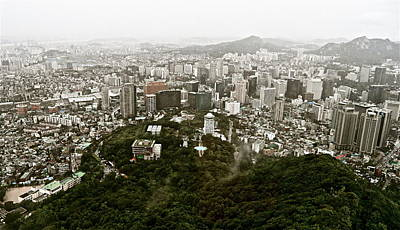 Photograph - Misty Seoul by Kume Bryant