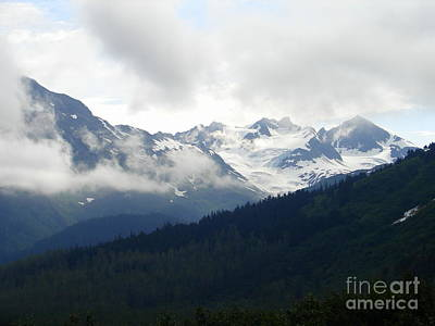 Photograph - Misty Snow Mountains by Lew Davis