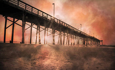 Beach Photograph - Misty Sunrise by Betsy Knapp
