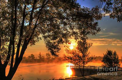Misty Sunrise Art Print by Thomas Danilovich