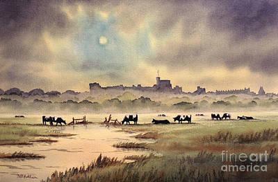 Misty Sunrise - Windsor Meadows Art Print