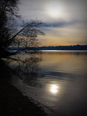 Photograph - Misty Sunset by Patricia Strand