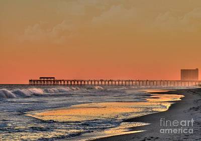 Photograph - Misty Sunset Pier by Kathy Baccari
