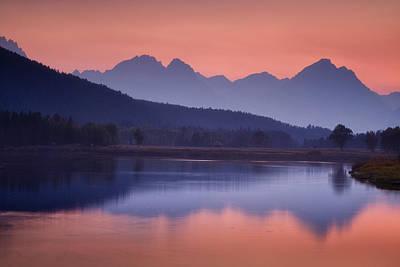 Symmetry Photograph - Misty Teton Sunset by Andrew Soundarajan