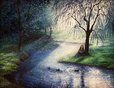 Painting - Misty Thoughts by Sher Sester