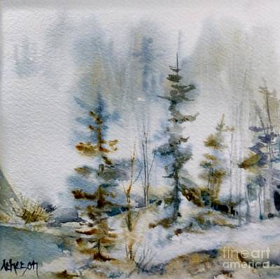 Painting - Misty Trees by Donna Acheson-Juillet