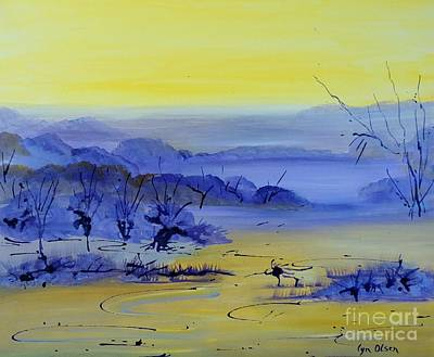 Art Print featuring the painting Misty Valley by Lyn Olsen