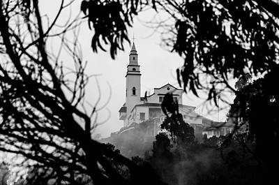 Misty View Of Monserrate Church Print by Jess Kraft