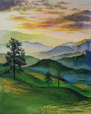 Misty Vista Art Print